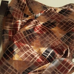 "Sheer Brown / Golds 13""×60"" Scarf"